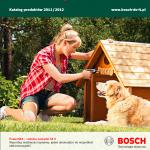 Katalog elektronarzędzi linii zielonej BOSCH - 2011/2012
