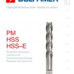 Katalog narzędzi skrawających PM, HSS, HSS-E Dolfamex 2012