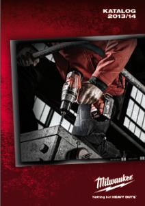 Elektronarzędzia Milwaukee - katalog 2013/2014