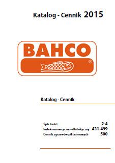 Katalog i cennik narzędzi ręcznych Bahco 2015