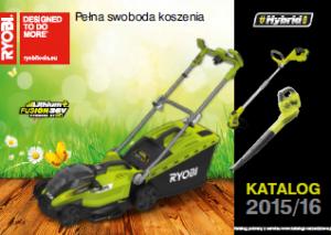 Elektronarzędzia ogrodowe Ryobi - katalog 2015-2016